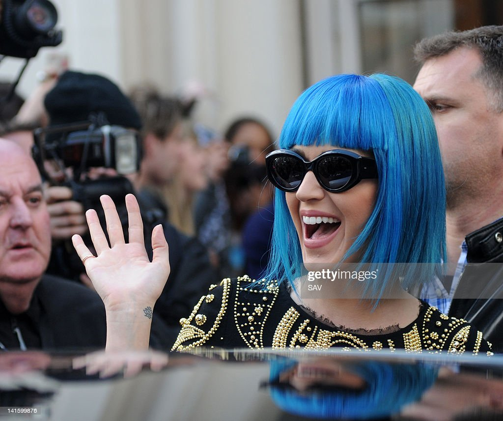 Katy Perry is seen at the BBC Maida Vale studios on March 19, 2012 in London, England.