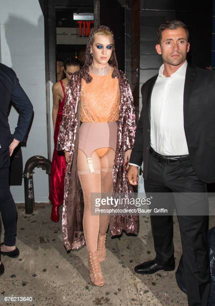 Katy Perry is seen attending the Rei Kawakubo/Comme des Garcons Art Of The InBetween' Costume Institute Gala After Party on May 02 2017 in New York...