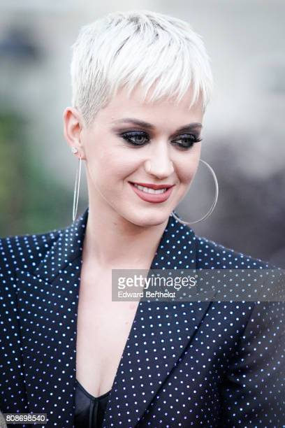 Katy Perry is seen during Paris Fashion Week Haute Couture Fall/Winter 20172018 on July 4 2017 in Paris France