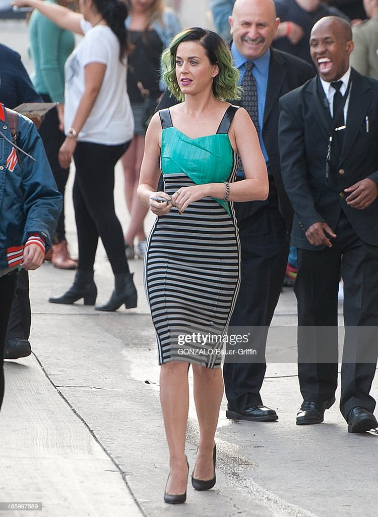 Katy Perry is seen on April 21, 2014 in Los Angeles, California.
