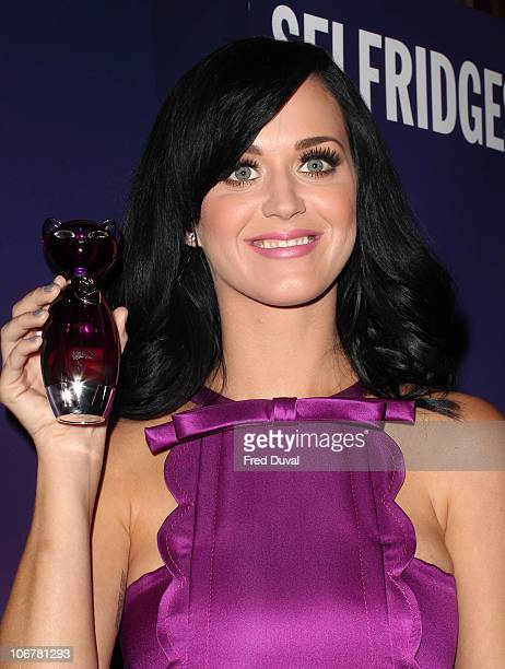 Katy Perry launches her new perfume Purr at Selfridges on November 12 2010 in London England