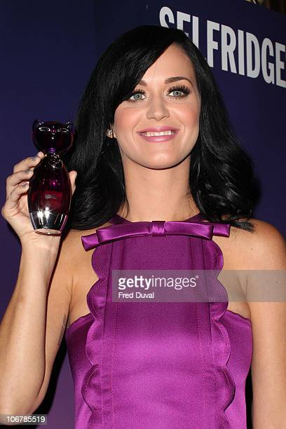 Katy Perry launches her new perfume Purr at Selfridges on November 12, 2010 in London, England.