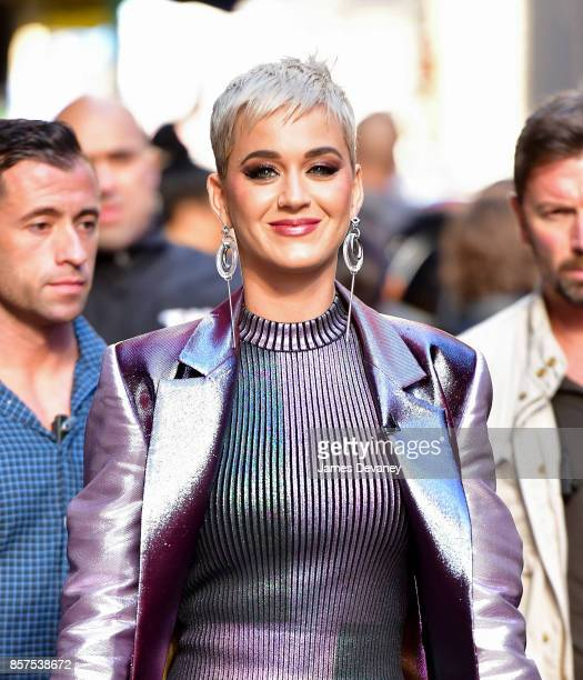 Katy Perry leaves ABC's 'Good Morning America' in Times Square on October 4 2017 in New York City