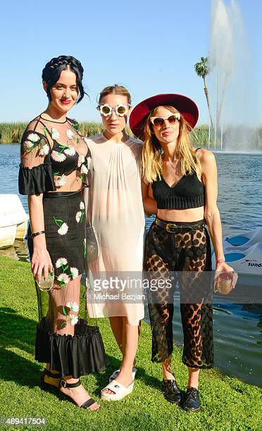 Katy Perry Mia Moretti and Janell Shirtcliff attend Soho Desert House on April 11 2015 in La Quinta California