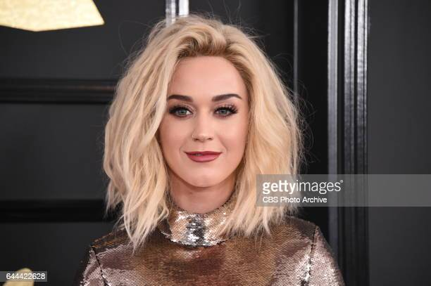 Katy Perry on the Red Carpet at THE 59TH ANNUAL GRAMMY AWARDS broadcast live from the STAPLES Center in Los Angeles Sunday Feb 12 on the CBS...