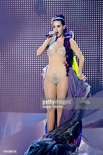 Katy Perry perfoms at the 2012 MuchMusic Video Awards at MuchMusic HQ on June 17 2012 in Toronto Canada