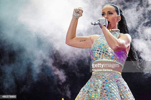 Katy Perry performs at 2015 Rock in Rio on September 27 2015 in Rio de Janeiro Brazil
