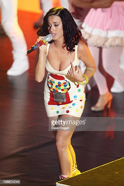 Katy Perry performs at BBC Radio 1's Teen Awards 2010 held at Hammersmith Apollo on November 14 2010 in London England