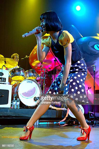 Katy Perry performs at Manchester Academy on February 25 2009 in Manchester England