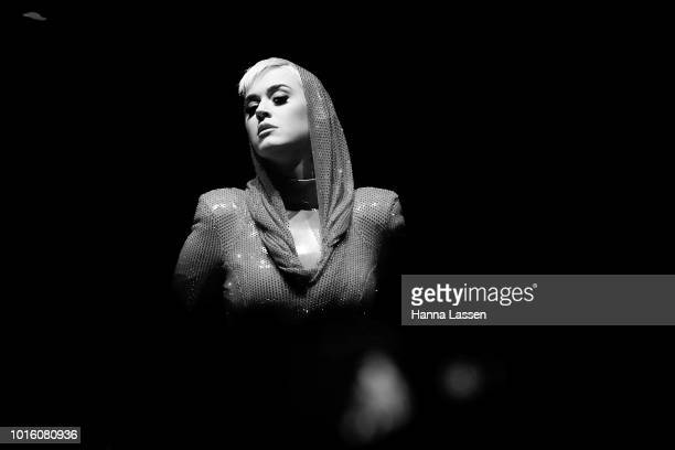 Katy Perry performs at Qudos Bank Arena on August 13, 2018 in Sydney, Australia.