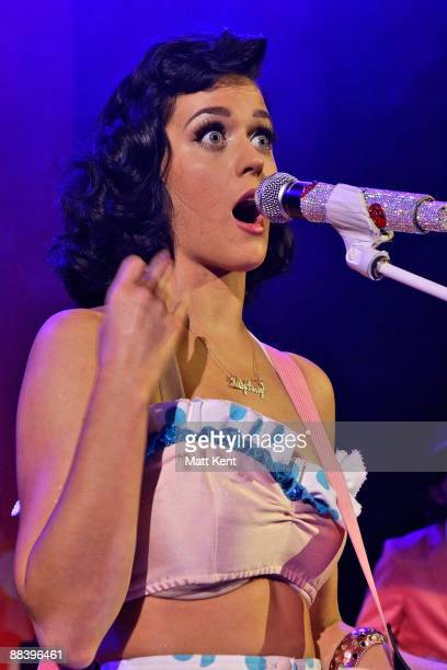 Katy Perry performs at Shepherds Bush Empire on June 10 2009 in London England