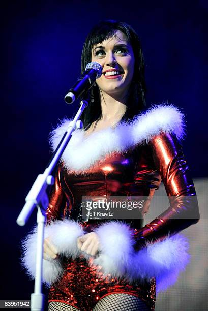Katy Perry performs at the 1027 KIIS FM Jingle Ball at The Honda Center on December 6 2008 in Anaheim California