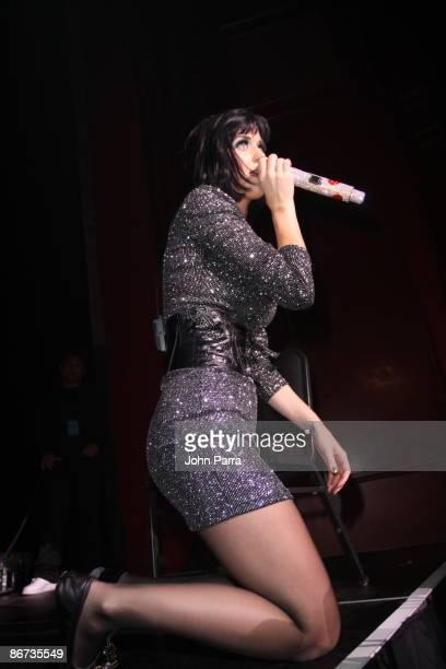 Katy Perry performs at the GRAMMY Celebration Concert Tour at Filmore Miami Beach at Jackie Gleason Theater on May 7 2009 in Miami Beach Florida
