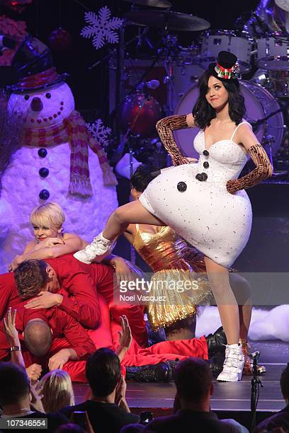 Katy Perry performs at the KIIS FM's Jingle Ball 2010 on December 5 2010 in Los Angeles California