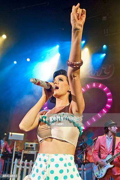 Katy Perry performs at the O2 Shepherds Bush Empire on June 10 2009 in London England