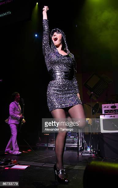 Katy Perry performs at the The Grammy Celebration Concert Tour Presented By TMobile Sidekick at Fillmore Miami Beach on May 7 2009 in Miami Beach...