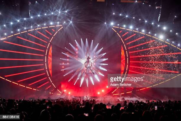 Katy Perry performs at Xcel Energy Center on December 1 2017 in St Paul Minnesota