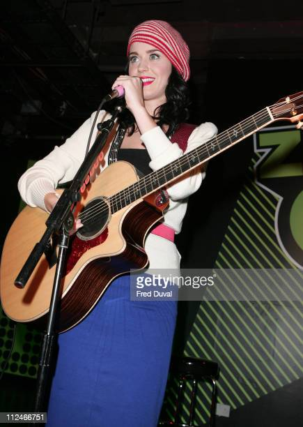 Katy Perry performs at Zavvi Oxford Street on November 12 2008 in London England