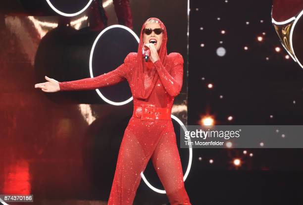Katy Perry performs during her Witness tour at SAP Center on November 14 2017 in San Jose California