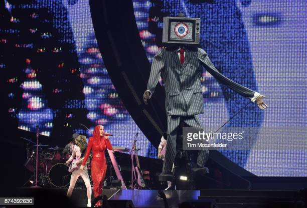 Katy Perry performs during her 'Witness' tour at SAP Center on November 14 2017 in San Jose California