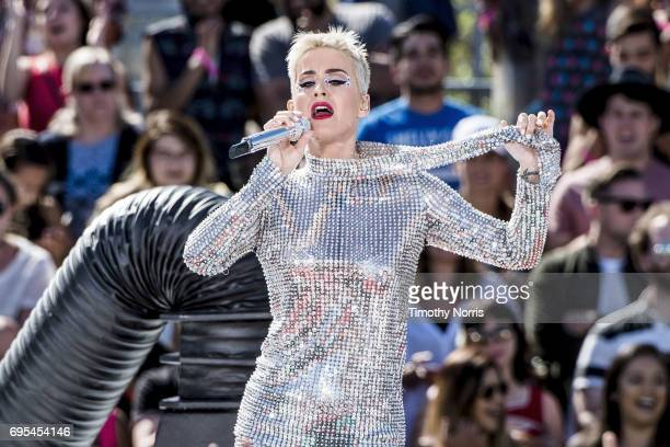 Katy Perry performs during 'Katy Perry Witness World Wide' exclusive YouTube Livestream Concert at Ramon C Cortines School of Visual and Performing...