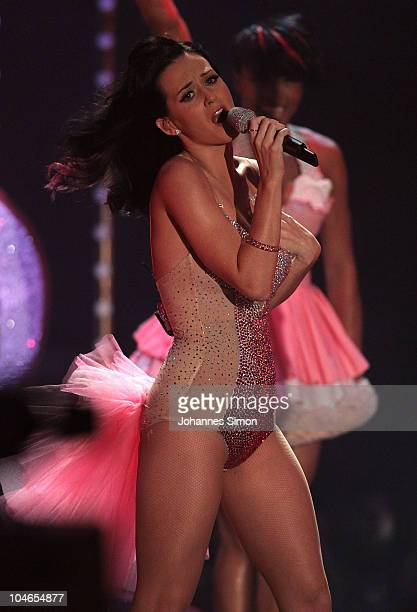 Katy Perry performs during the 190th 'Wetten dass ' show at Olympiahalle on October 2 2010 in Munich Germany