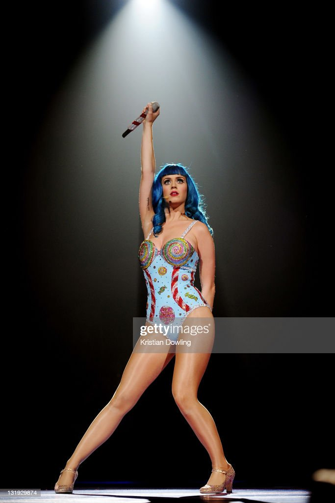 Katy Perry performs during the North American leg of her 'California Dreams Tour 2011' at the Bank Atlantic Center on June 11, 2011 in Sunrise, Florida.