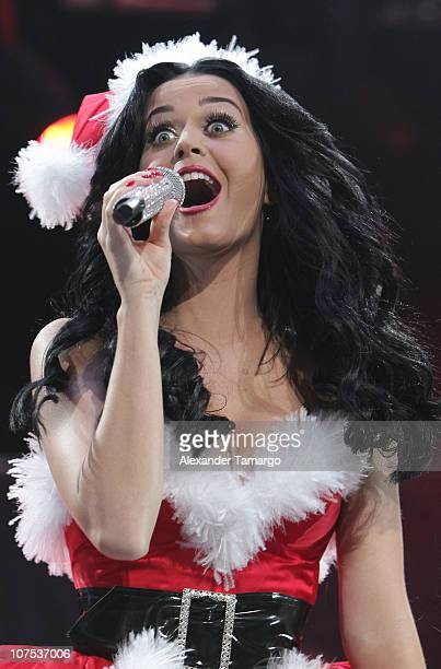 Katy Perry performs during the Y100 Jingle Ball at BankAtlantic Center on December 11 2010 in Sunrise Florida