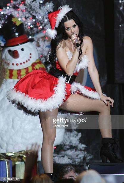 Katy Perry performs during the Y100 Jingle Ball at BankAtlantic Center on December 11, 2010 in Sunrise, Florida.