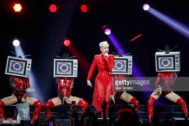 Katy Perry performs in concert at Palau Sant Jordi on June 28 2018 in Barcelona Spain