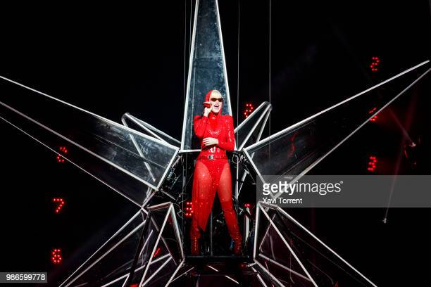 Katy Perry performs in concert at Palau Sant Jordi on June 28, 2018 in Barcelona, Spain.