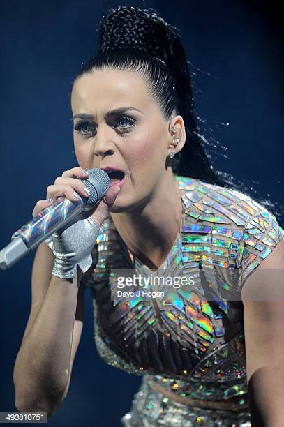 Katy Perry performs live at Radio 1's Big Weekend at Glasgow Green on May 25 2014 in Glasgow Scotland