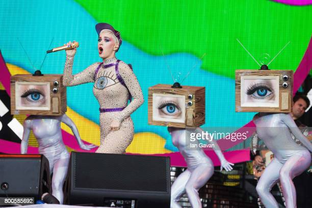 Katy Perry performs on day 3 of the Glastonbury Festival 2017 at Worthy Farm Pilton on June 24 2017 in Glastonbury England