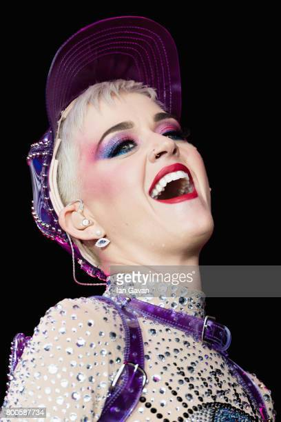 Katy Perry performs on day 3 of the Glastonbury Festival 2017 at Worthy Farm Pilton on June 24 2017 in Glastonbury England
