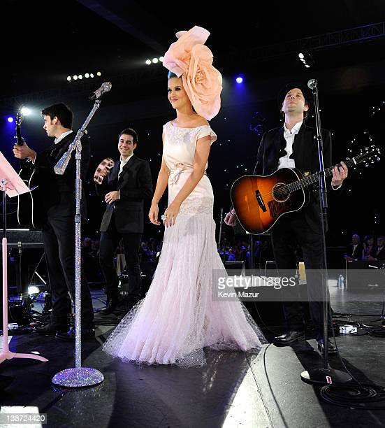 Katy Perry performs on stage at The 2012 MusiCares Person Of The Year Gala Honoring Paul McCartney at Los Angeles Convention Center on February 10,...