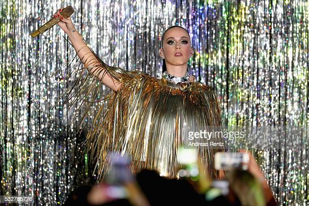 Katy Perry performs on stage at the amfAR's 23rd Cinema Against AIDS Gala at Hotel du CapEdenRoc on May 19 2016 in Cap d'Antibes France