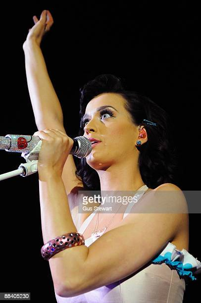 Katy Perry performs on stage at the O2 Shepherds Bush Empire on June 10 2009 in London England