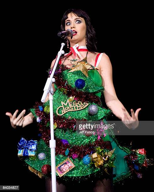 Katy Perry performs on stage during the Q102 Jingle Ball at the Susquehanna Bank Center on December 14 2008 in Camden New Jersey