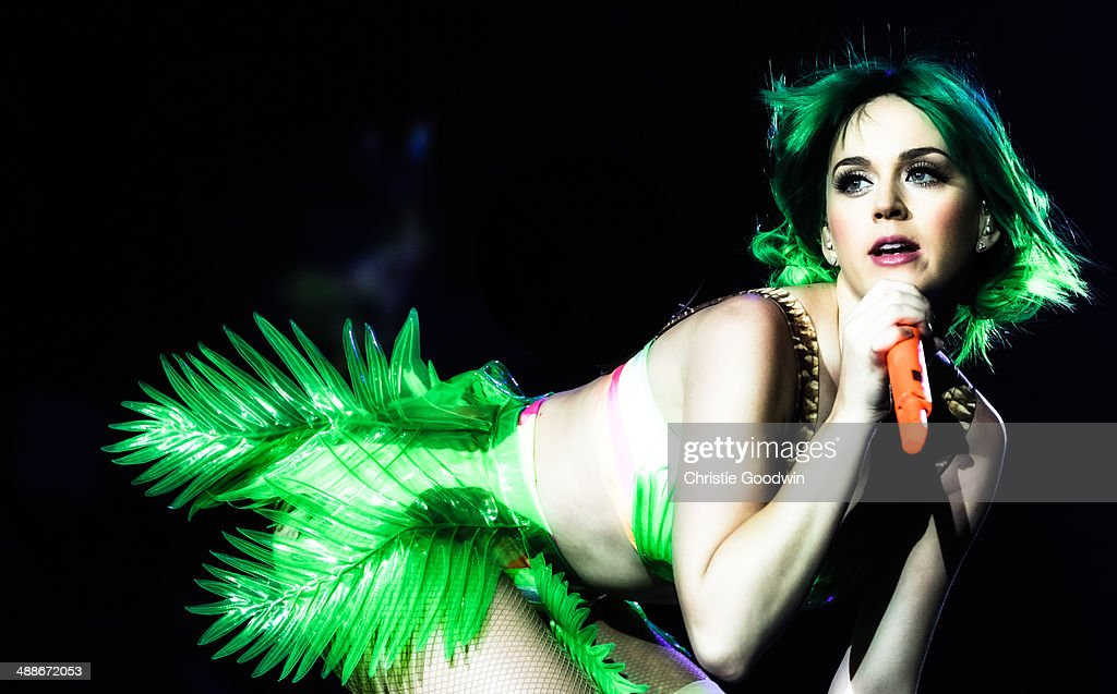 Katy Perry performs on stage on the opening night of her Prismatic World Tour at Odyssey Arena on May 7, 2014 in Belfast, Northern Ireland.