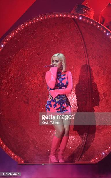 Katy Perry performs onstage during 102.7 KIIS FM's Jingle Ball 2019 Presented by Capital One at the Forum on December 6, 2019 in Los Angeles,...