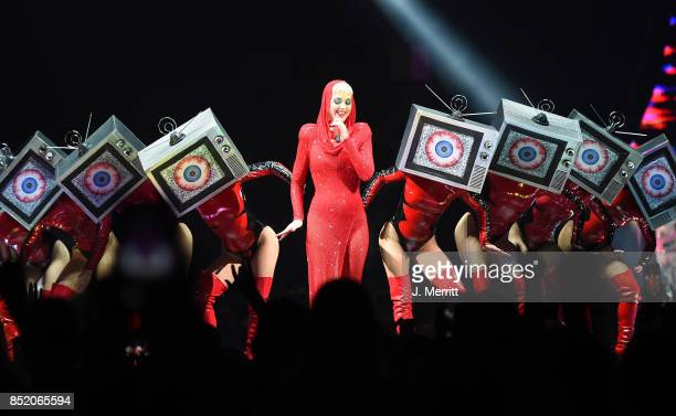 Katy Perry performs onstage during her 'Witness The Tour' tour at PPG PAINTS Arena on September 22 2017 in Pittsburgh Pennsylvania