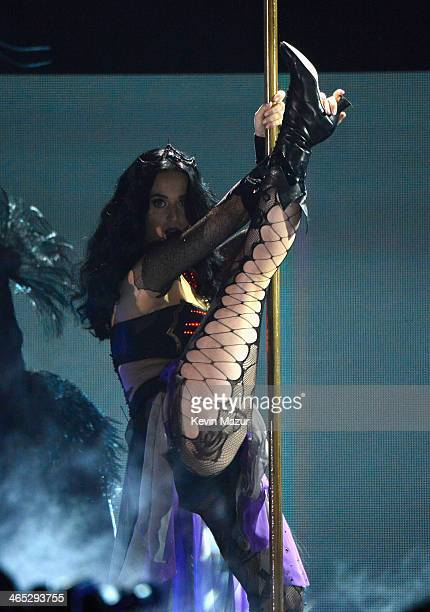 Katy Perry performs onstage during the 56th GRAMMY Awards at Staples Center on January 26 2014 in Los Angeles California