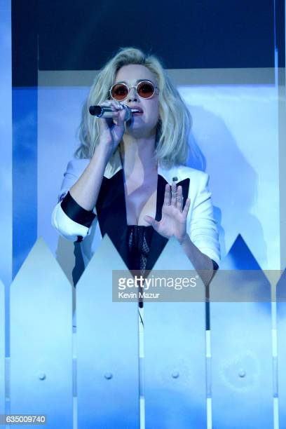 Katy Perry performs onstage during The 59th GRAMMY Awards at STAPLES Center on February 12 2017 in Los Angeles California