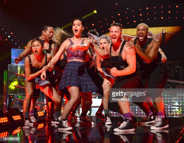Katy Perry performs onstage during the iHeartRadio Music Festival at the MGM Grand Garden Arena on September 20 2013 in Las Vegas Nevada