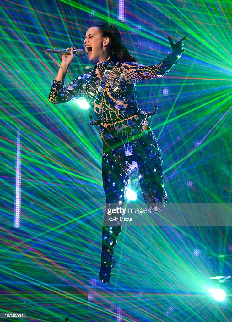 Katy Perry performs onstage during the MTV EMA's 2013 at the Ziggo Dome on November 10, 2013 in Amsterdam, Netherlands.