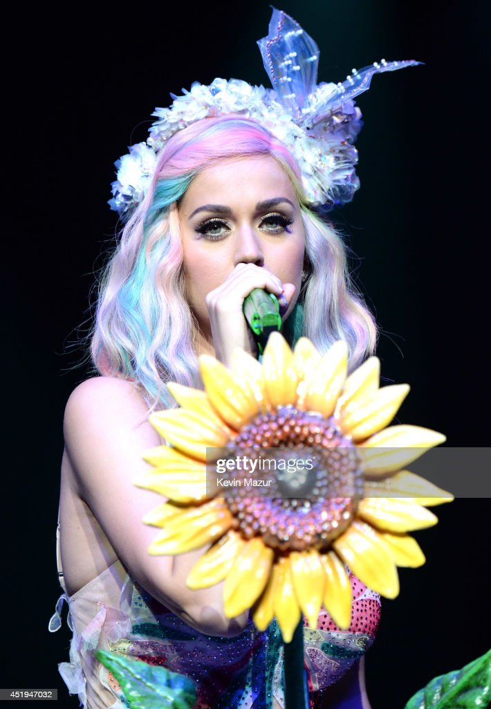Katy Perry performs onstage during 'The Prismatic World Tour' at Madison Square Garden on July 9, 2014 in New York City.