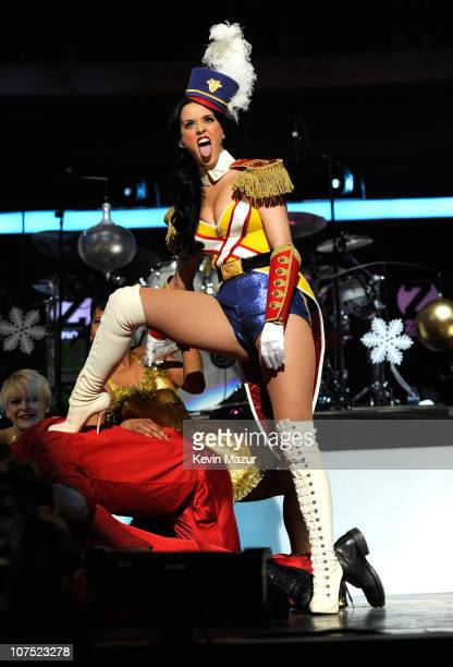 Katy Perry performs onstage during Z100's Jingle Ball 2010 presented by HM at Madison Square Garden on December 10 2010 in New York City