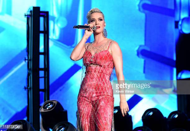 Katy Perry performs onstage with Zedd at Coachella Stage during the 2019 Coachella Valley Music And Arts Festival on April 14 2019 in Indio California