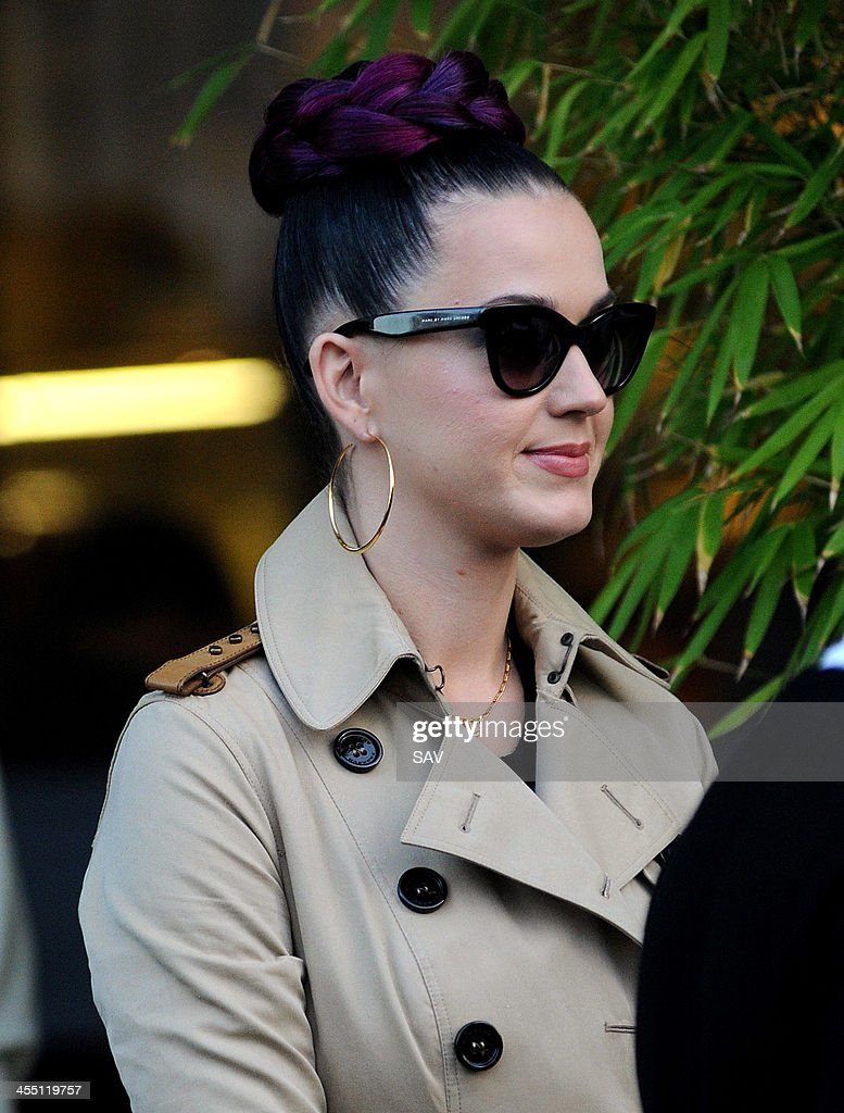 Katy Perry pictured leaving the ITV studios on December 11, 2013 in London, England.