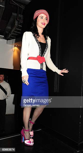 Katy Perry plays instore One Of The Boys show at Zavvi on November 12 2008 in London England